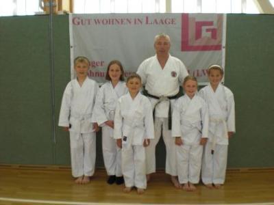 Foto zur Meldung: Karate beim Sportclub Laage
