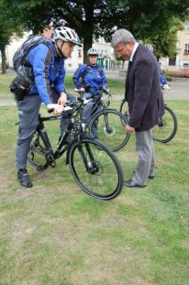 Foto zu Meldung: Bürgernah mit dem Rad