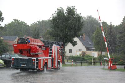 Foto zur Meldung: Falkenseer Feuerwehr im Einsatz