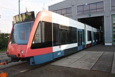 Foto zur Meldung: Sanierter Combino-Prototyp zurück in Potsdam