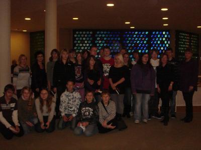 Foto zur Meldung: Glöwener Schüler- geladene Gäste in der Philharmonie Berlin