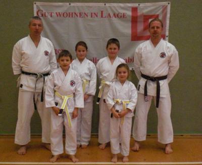 Foto zur Meldung: Kyu-Prüfung im Sportclub Laage