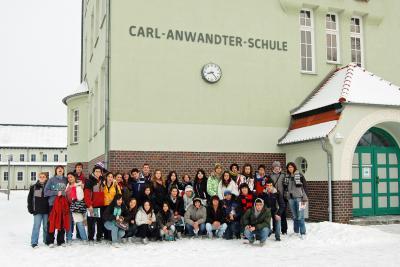Foto zur Meldung: Chilenische Schüler in Calau herzlich empfangen