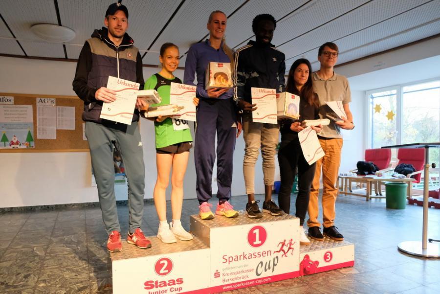 Siegerinnen und Sieger 10 km Lauf.