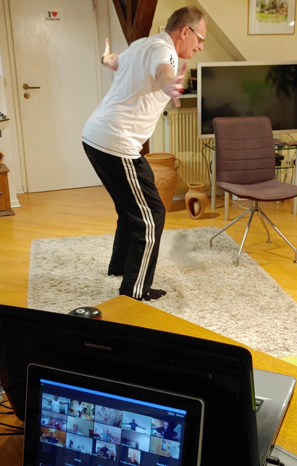 Online-Training der August-Schlicker-Riege
