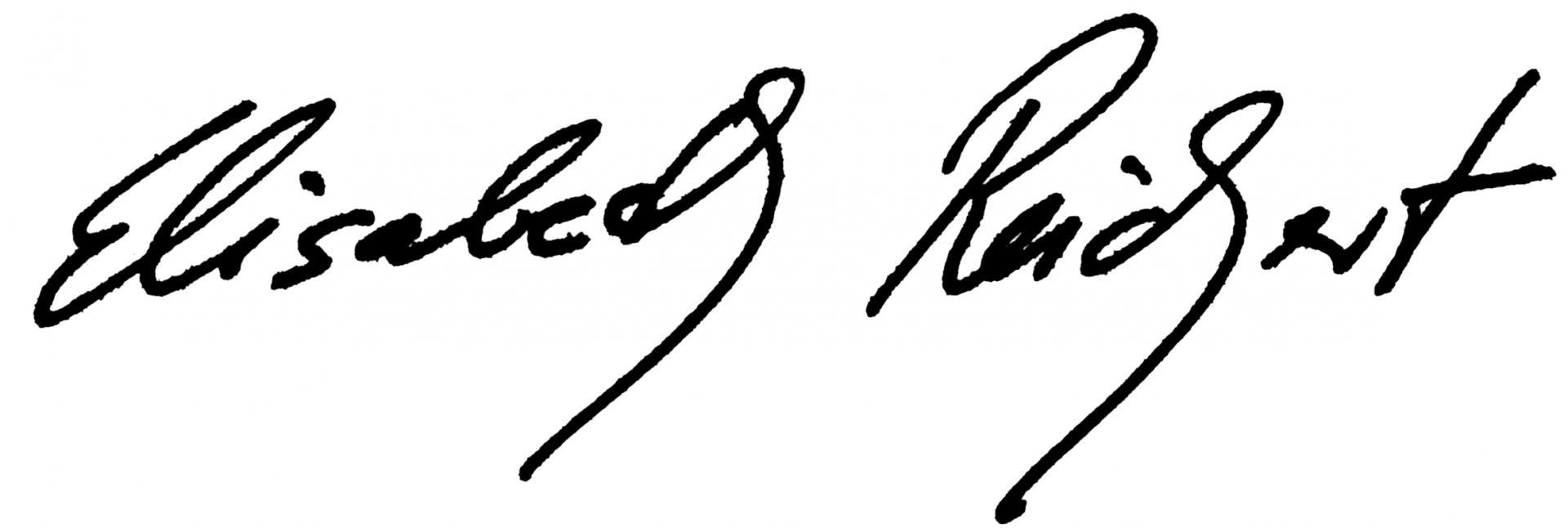 Unterschrift Frau Reichert