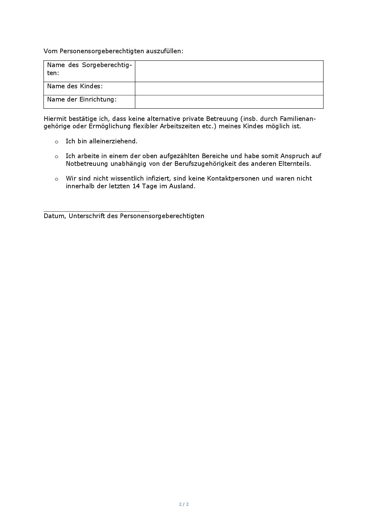 Nachweis zur Kinderbetreuung ab 12.01.2021 - 002