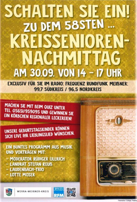 58. Kreisseniorennachmittag im Radio Rundfunk-Meißner
