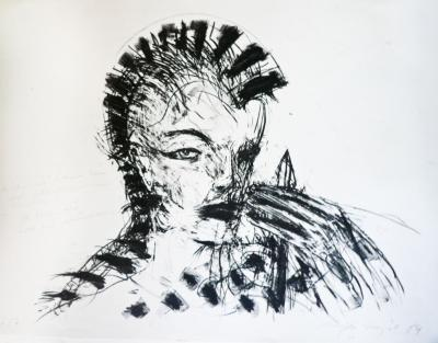 © Heike Adner, Balance, Schriftbahn/Transparentpapier, Bleistift, Höhe: 2 m, 2018