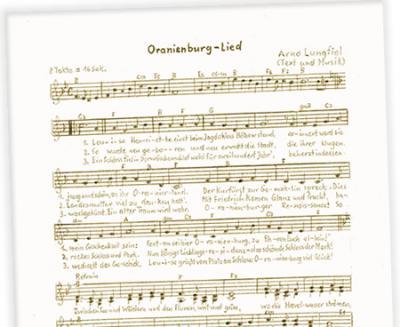 Foto zu Meldung: Oranienburg-Lied: »Sei gegrüßt, Oranienburg«