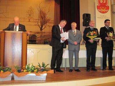 Bild der Meldung: Ehrung für Heinz Köbke - Jahresempfang des Kreises in Seelow