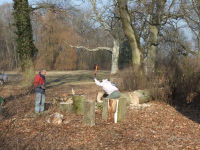 Foto zu Meldung: Subbotnik im Schlosspark Steinhöfel