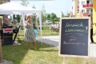 Bild der Meldung: Feierliche Eröffnung des Gemeinschafts-Pavillon in Hönow