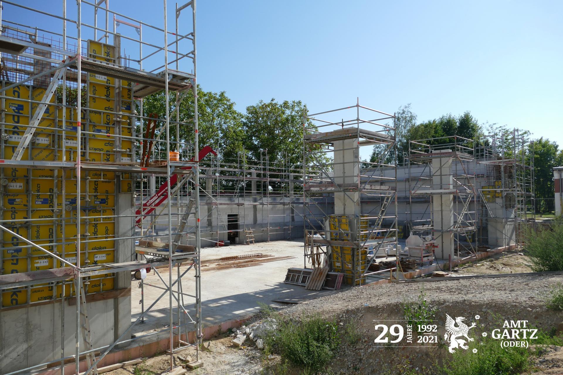 Baustelle Grundschule Gartz (Oder)