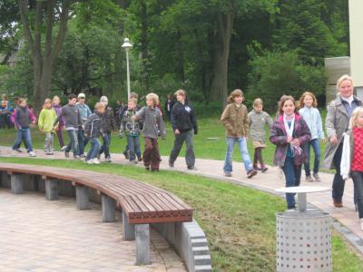 Bild der Meldung: Kinder der Lenné-Schule besuchten den Bürgermeister