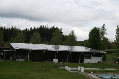 Foto zur Meldung: Inbetriebnahme der Photovoltaikanlage im Freibad Brand