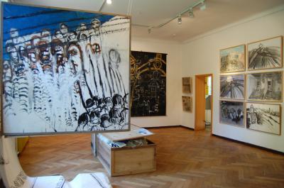 """Foto zur Meldung: Erlebe einen Nachmittag mit Sara Atzmon, Zeitzeugin und Malerin aus Irsael, und arbeite mit verschiedenen Materialien künstlerisch zum Thema """"Holocaust"""""""