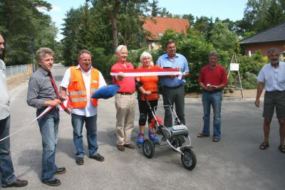 Foto zur Meldung: Zweiter Bauabschnitt in Siedlung Waldheim fertig gestellt