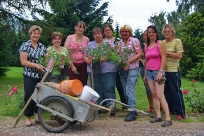 Vorschaubild zur Meldung: Harzklubfrauen pflegen Friedhofsrabatte