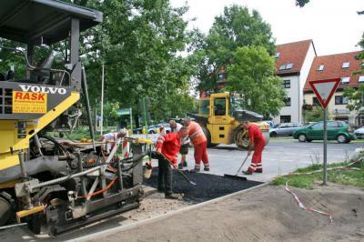 Foto zur Meldung: Akazienstraße in Basdorf: Verkehrsfreigabe noch diese Woche