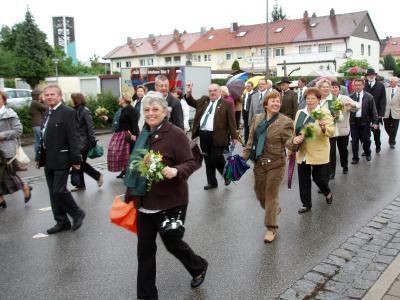 Foto zur Meldung: Die SGN beim Festzug zum Stadtjubiläum