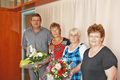 Foto zur Meldung: Kitaerzieherinnen zum 40-jährigen Dienstjubiläum gedankt