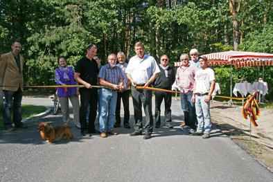 Foto zur Meldung: Straßenausbau Siedlung Waldheim in Basdorf abgeschlossen
