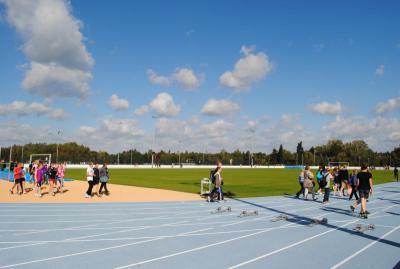 Foto zu Meldung: Botschaft gegen Spätlese - Spannendes Länderfußballspiel zur symbolischen Freigabe des Rasenspielfeldes  am kommenden Samstag