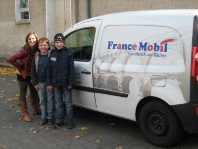 Foto zur Meldung: FranceMobil an der Otto-Seeger-Grundschule