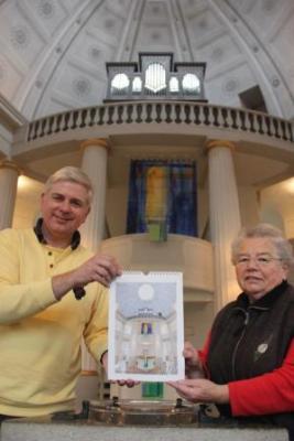 Foto zur Meldung: Kalender zeigt die Rundkirche aus ganz anderen Perspektiven