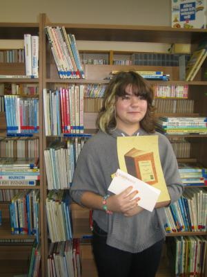 Foto zur Meldung: Golzower Schülerin gewann beim Vorlesewettbewerb