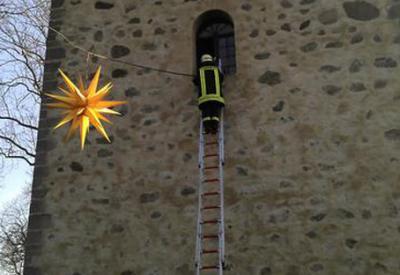 Foto zur Meldung: Weihnachtsstern über Werder