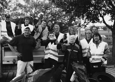 Foto zur Meldung: Jugendfeuerwehr Biebelried auf Tour de Müll