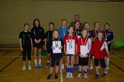 Foto zur Meldung: 17. Sportlerehrung der Stadt Falkensee - Schülerinnen der Lessing-Grundschule werden ausgezeichnet