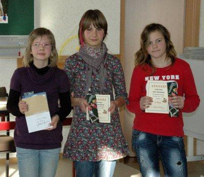 Foto zu Meldung: Sieger Vorlesewettbewerb