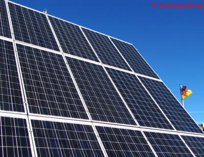 Foto zur Meldung: 1. Solarkraftwerk im Ortsteil Werder