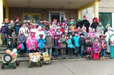 Foto zur Meldung: Zampern der Grundschule Hirschfeld