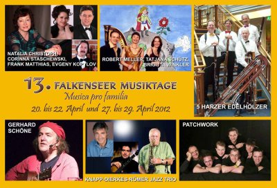 Foto zur Meldung: Kartenverkauf für die 13. Falkenseer Musiktage hat begonnen - Für das Konzert mit Liedermacher Gerhard Schöne nur wenige Karten erhältlich