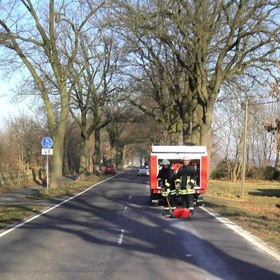 Foto zu Meldung: Ölspur zwischen Werder und Zinndorf