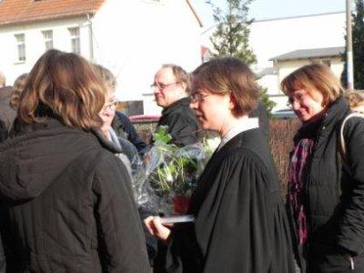 Foto zur Meldung: Vorstellungsgottesdienst von Jugendpfarrerin Julia Daser