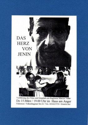 """Foto zur Meldung: """"Das Herz von Jenin"""" - Dokumentarfilm im Haus Anger - Regisseur Marcus Vetter vor Ort"""