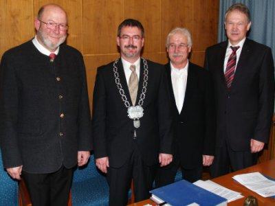 Foto zur Meldung: Bürgermeister Torsten Gebhardt vereidigt