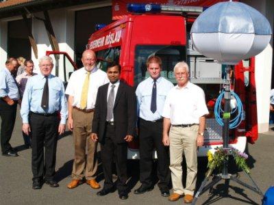 Foto zur Meldung: Neues Mehrzweckfahrzeug für Freiwillige Feuerwehr Röslau