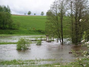 Foto zur Meldung: Hochwasser am 28. Mai 2006