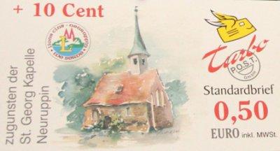 Vorschaubild zur Meldung: Lions-Benefiz-Briefmarke für St Georg Kapelle