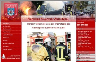 Vorschaubild zur Meldung: Freiwillige Feuerwehr der Stadt Aken (Elbe) bekommt eigene Internetseite