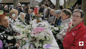 Foto zur Meldung: Ostersonne strahlte überm Pingelhof