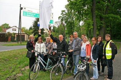 Foto zur Meldung: Mehr als 1.100 neue Schilder für Radwege im Naturpark Barnim