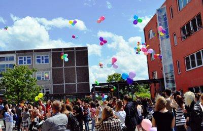 Foto zur Meldung: Leserbrief der Kantschule: 99 Luftballons für 20 Jahre Kantschule -  Die Kantschule beendet das Jubiläumsjahr mit einem grandiosen Schulfest