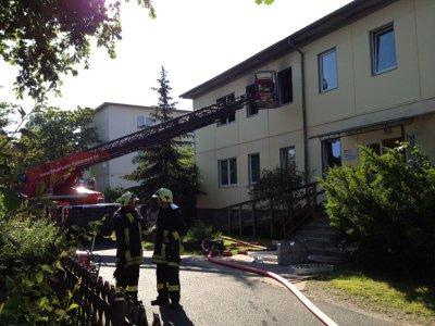 Foto zur Meldung: Lagerfeuer im Kinderzimmer – Brand im ASB Kinderheim